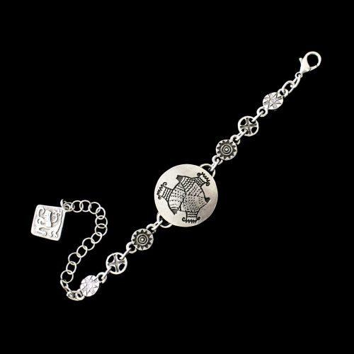 Zilverkleurig nikkelvrije armband-Akva-Vita met een uniek design Sale € 5,00 | sieradencorner.nl