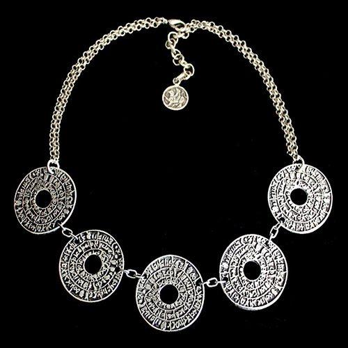 Ketting Kalendar een uniek sieraad met zilverkleurige ringen. Ketting is ook verkrijgbaar met rode leren ketting en zilver kleurige ringen | sieradencorner SALE € 13,00