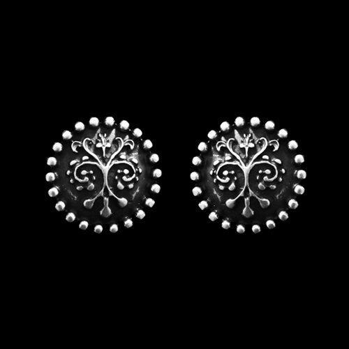 Verzilverde nikkelvrije oorbellen Rizalit-Seta in Italiaanse stijl Prijs € 8.00 | sieradencorner.nl