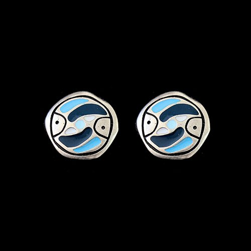 Oorbellen Stepovik Bleu een uniek sieraad. In combinatie met armband Stepovik Bleu heeft u een vrolijk setje sieraden Prijs € 10,00 Sieradencorner biedt de sieraden aan tegen een betaalbare prijs.