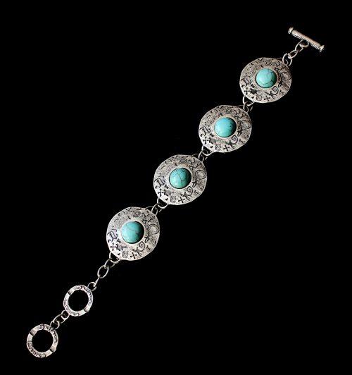 Armband Ochag Bleu een uniek sieraad. In combinatie met ketting Ochag Bleu heeft u een uniek setje sieraden. Exclusieve sieraden bij sieradencorner.nl Prijs € 10,00