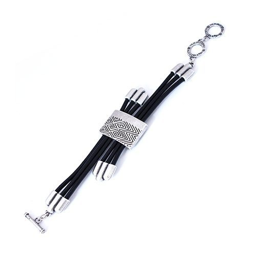 Zilverkleurig nikkelvrije armband-simvol-a Lengte 17 cm Prijs € 13.00 . Exclusieve sieraden bij sieradencorner