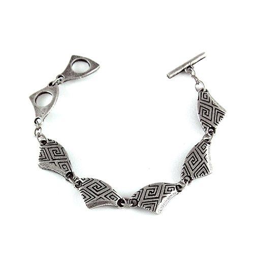 Armband Labirint een uniek sieraad met grafisch motief. In combinatie met de oorbellen Labirint heeft u een uniek setje sieraden. Prijs € 8,00