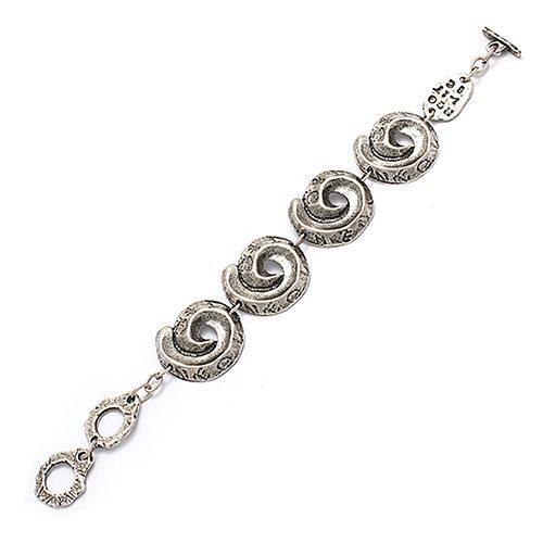 Armband Aura een uniek sieraad met zilverkleurige schakels. In combinatie met ketting Aura heeft u een uniek setje sieraden | sieradencorner.nl