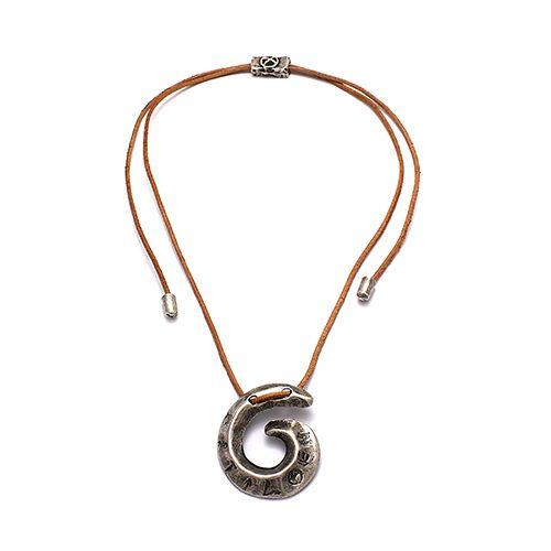 Ketting Aura een uniek sieraad met zilverkleurige hanger. In combinatie met de armband Aura heeft u een uniek setje sieraden | sieradencorner.nl