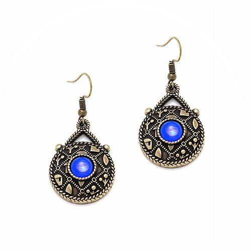 Brons vergulde oorbellen alavastr bronze Prijs € 10,00 Op sieradencorner vind je betaalbare exclusieve sieraden