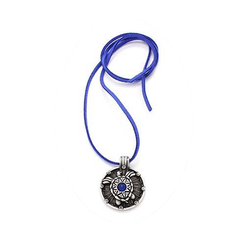 Ketting Cherepaha bleu met verzilverde nikkelvrije hanger Prijs € 12,00 Op Sieradencorner.nl vind je klassieke, vintage en trendy sieraden tegen betaalbare prijzen